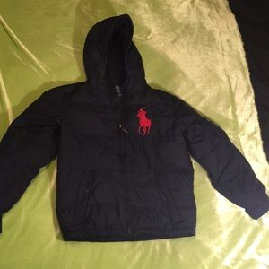 Polo/Ralph Laure down filled black coat